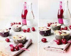 #JustEat Nada mejor para una cena romántica que un postre a base de cerezas y un vino rosado para el brindis.