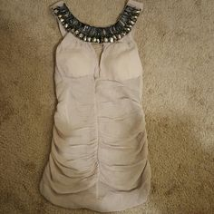 Evening blouse Very sexy blouse! Color Khaki. Would look great with jeans or skirt. Nwot. Not FP Free People Tops Blouses