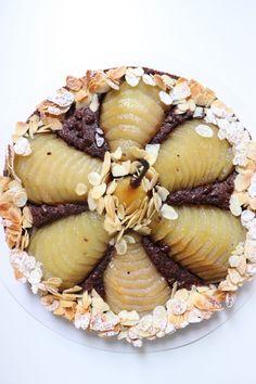 Tarte Bourdaloue poire chocolat - Recette Olivia Pâtisse Cacao, Ethnic Recipes, Tarte Fine, Food, Pastry Recipe, Kitchens, Pies, Essen, Yemek