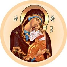 Mother of God of Yaroslavl - Self-Adhesive Icon from the Workshop of St. Elisabeth Convent - Available in a Variety of Colors - Religious Icons, Religious Art, Orthodox Catholic, Virgin Mary, Russian Icons, Mary And Jesus, Orthodox Icons, Blessed Mother, Mother Mary