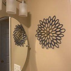 Teal dahlia wall art | Etsy Teal Wall Decor, Navy Home Decor, Modern Wall Decor, Metal Wall Flowers, Paper Dahlia, Grey Wall Art, Contemporary Wall Art, Modern Art, Paper Wall Art