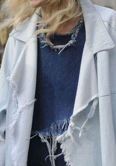 Denim Trend: Frayed Oversized Jackets
