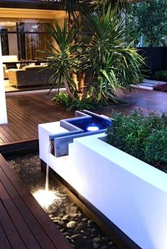 If you are considering lighting your garden/landscape, do remember firstly that a little light goes a long way at night. See our top garden lighting tips and ideas below to help you light beautifully and use the right exterior light… Continue Reading → Terrasse Design, Patio Design, House Design, Garden Lighting Tips, Outdoor Lighting, Backyard Lighting, Modern Pond, Garden Modern, Modern Backyard