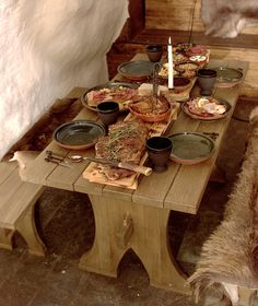 Medieval dinner. Lorraine and Dennis did a lot of research for this one!