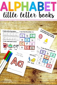Little Letter Books are a fun way to get your students practicing reading, writing, and finding all the letters of the alphabet! They can be used in literacy centers, morning work, or even sent home as extra letter practice! #learningtoread #learning