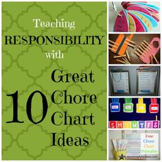Teaching Responsibility with 10 Great Chore Chart Ideas