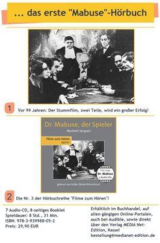 ... ein Stummfilm in zwei Teilen! Movie Posters, Movies, Movie, Silent Film, Postcards, Reading, Films, Film Poster, Cinema