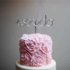 We Do Cake Topper   Off BEET Productions   Theknot.com