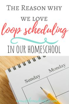 Following someone else's plans for our own homeschool almost always results in tweaking of the schedule or throwing it out completely. But we shouldn't look at our schedules as binding. We should look at them as simple guidelines for our day, and that is where loop scheduling comes in.
