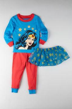 DC Comics Wonder Woman Tutu Tight Fit Pajama Set   by Superhero Sleepwear & More on @HauteLook