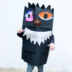 We love these colour your own paper monsters from French designer, OMY. For more details, see our website at www. Young At Heart, Heart For Kids, Azul Cyan, Happy Halloween, Scary, Costumes, Collection, Color, Shopping