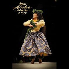 The lovely Miss Aloha Hula 2017...Kelina Kiyoko Ke'ano'ilehua Tiffany Eldredge.