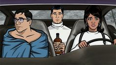 That time he was considerate enough to show up with booze. | 27 Times When Sterling Archer Was The Perfect Role Model Archer Tv Show, Archer Fx, Sterling Archer, Geek Movies, Danger Zone, Cartoon Tv, Archer Cartoon, Adult Cartoons, Action Film