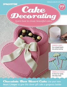 Learn how to your in this weeks issue of easy to do with your new Also in this weeks issue, have fun decorating your with spots and stripes! Gift Box Cakes, Gift Cake, Cupcake Art, Cupcake Cookies, Fondant Icing, Fondant Cakes, Amazing Food Creations, Cake Decorating Magazine, Pastry Cake