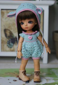 """Set """"Pink Vanilla bear"""" for pukipuki/ lati white SP body/Felix brownie/SOOM Dudu"""