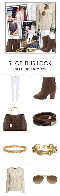 """Untitled #556"" by lilmissmegan ❤ liked on Polyvore featuring M.i.h Jeans, rag & bone, Louis Vuitton, Cartier, J.Crew, H&M, Ray-Ban and BP."