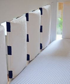 Navy & White Three-piece Crib Bedding Set