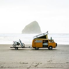 campervan lifestyle - beach, sea, sport