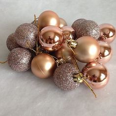 24 rose gold christmas tree baublesxmas decorations new
