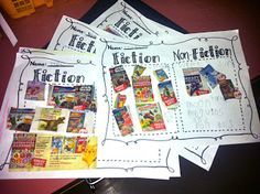 use old book orders to have students sort fiction and nonfiction books!