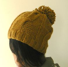 Cable Fusion Toque Hat (garter) by Asia Spence - free
