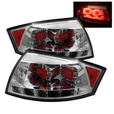 Chrome/Clear LED Taillights for Audi TT 2000, 2001, 2002, 2003, 2004, 2005, 2006