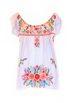 Handmade Mexican embroidered dresses and vintage treasures from Aida Coronado Coronado dress bohemian Mexican tunic A heart in every piece