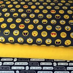 Text Speech Bubbles Emoticons - Bundle - Cotton Emoticon, Bubbles, Fabric, Cotton, Smiley, Tejido, Fabrics, Tejidos, Emoji