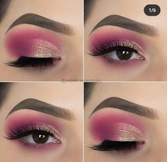 makeup tips 10 Eye Makeup Tips from Jaqueline Vandoski – EYE Makeup 10 Augen Make-up Tipps von Jaqueline Vandoski - EYE Make-up Black Eye Makeup, Makeup Eye Looks, Beautiful Eye Makeup, Pink Makeup, Eye Makeup Tips, Makeup Tricks, Eyeshadow Looks, Makeup Goals, Pretty Makeup