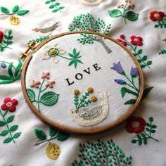 love embroidery by yumiko higuchi