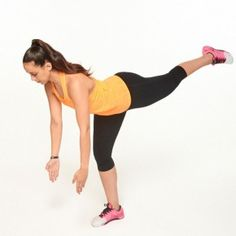 Start a single leg squat position, left leg extended straight behind you, toes pointing towards the floor. Keeping back flat back, reach fingers towards the ground. Drive the left knee forward, exploding into the air from the standing leg, and reach for the ceiling. Continue for 60 seconds then switch to the other leg.
