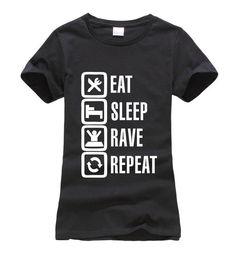 Eat Sleep Rave Repeat Female Shirt