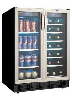"Free Standing Beverage Center | ... DBC2760BLS Silhouette 24"" Built In/ Free Standing Beverage center"