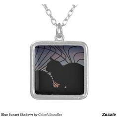 Shop Zazzle's Blue necklaces for yourself or a loved one. Blue Necklace, Locket Necklace, Dog Tag Necklace, Blue Sunset, Girls Necklaces, Best Sellers, Shadows, Cats, Jewelry