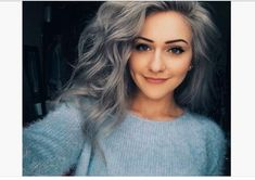 granny hair grey gray dyeing dying trend young women girls teenagers lavender purple how to do look hot viral