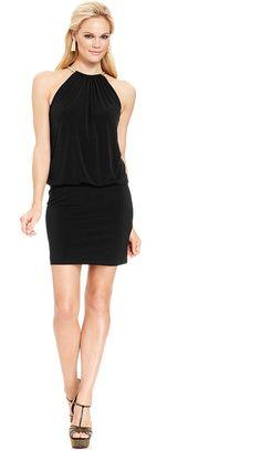 Jessica Simpson Halter Necklace Blouson Dress on shopstyle.com