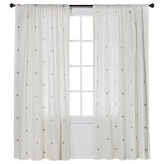Nate Berkus™ Metallic Window Panel  $35 per panel....off white with metallic gold circles...could be cute in guest room