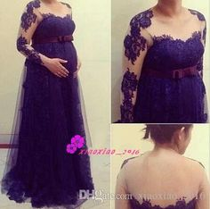 Cheap gown backless, Buy Quality gown supplier directly from China gowns maternity Suppliers: Princess Cheap Formal Evening Dress Modest Long Sleeves Arabic Sexy 2017 A-line Party Gowns With Lace Vintage For Pregnant Women Backless Evening Gowns, Long Sleeve Evening Dresses, Evening Party Gowns, Prom Dresses Long With Sleeves, Formal Evening Dresses, Formal Dress, Maternity Prom Dresses, Prom Party Dresses, Robes Quinceanera