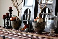 pinterest, fall decorating | Fall Décor With Branches: 37 Awesome Ideas | DigsDigs