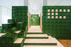 yalla yalla! stacks vegetable crates for exhibition in germany