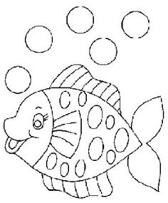 fish coloring page - Coloring pages for kids Applique Templates, Applique Patterns, Applique Designs, Quilt Patterns, Embroidery Designs, Embroidery Applique, Fish Coloring Page, Coloring Book Pages, Coloring For Kids
