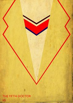 Minimalist 'Doctor Who' Posters Travel Across Time and Ties - The Fifth Doctor, Peter Davison