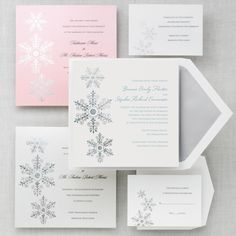 Sparkling Snowflake Wedding Invitation - Winter Wedding Invitations