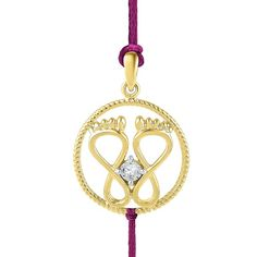Jpearls 18 Kt Gold Classy Diamond Rakhi Cum Pendant | Gold and Diamond  #rakshabandhan #rakhigifts #jewellery #rakhis #brother #bracelet