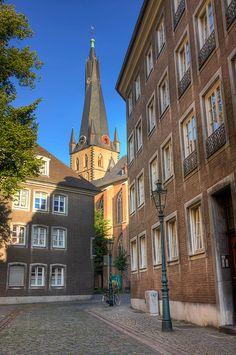 Altstadt in Dusseldorf , Germany