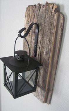 Altholz hängende Laterne rustikale Wand-Dekor Hängelampe   Etsy