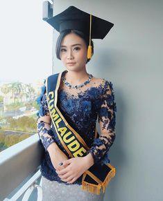 "NO RENT , Custom made Only on Instagram: ""Ms @karamanoss graduation . Congrats ✨✨ Attire : Ivory Ramirez.studio""...  #Congrats #Custom #Graduation #Instagram #karamanoss #rent Kebaya Muslim, Kebaya Hijab, Kebaya Brokat, Dress Brokat, Kebaya Dress, Kebaya Bali, Indonesian Kebaya, Model Kebaya Modern, Kebaya Modern Dress"