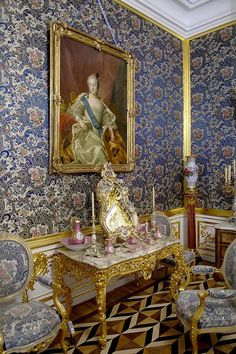 Dressing Room in the Hermitage Palace, St. Petersburg, Russia Photography (c) William F. Adams