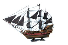 SOLD FULLY ASSEMBLED Ready for Immediate Display - Not a Model Ship kitÿ Search for lost treasure as you set sail for adventure on the high seas aboard this scale tall model ship replica of Captain Ki