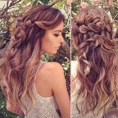 I'm thinking this could be my Maid of Honor hair at my sister's wedding!